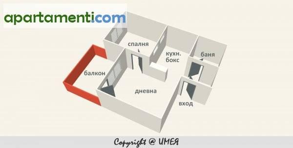 Двустаен апартамент, София, Банишора