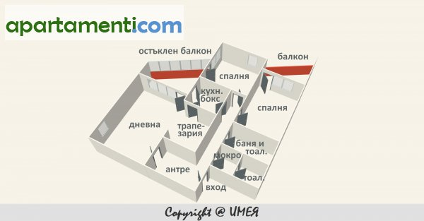 Четиристаен апартамент, София, Зона Б5
