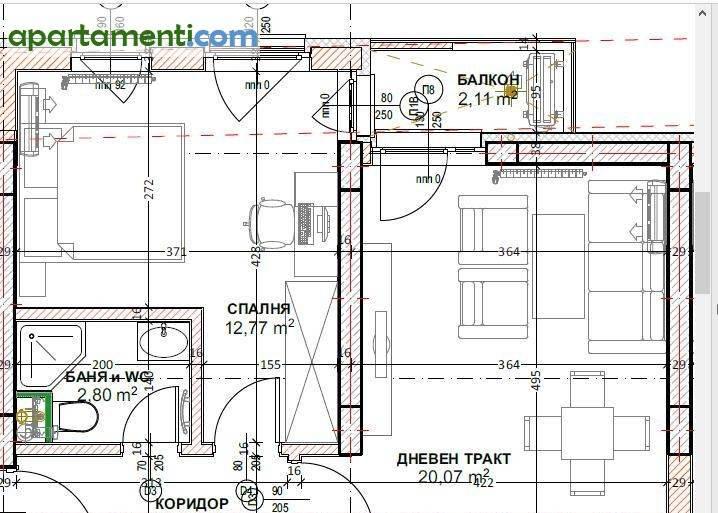Двустаен апартамент София  Кръстова Вада