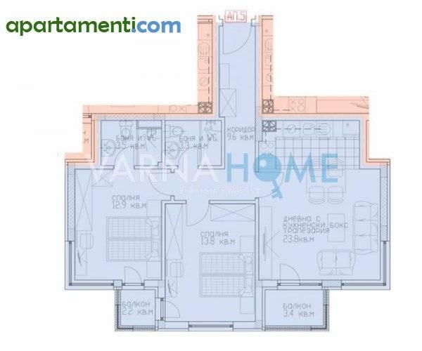 Тристаен апартамент Варна м-т Сотира 1