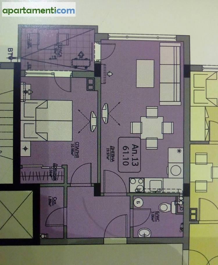 Двустаен апартамент Бургас Сарафово 3