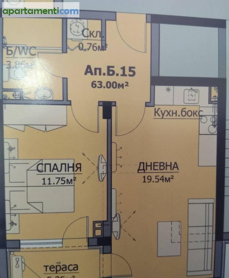 Двустаен апартамент Бургас Сарафово 1