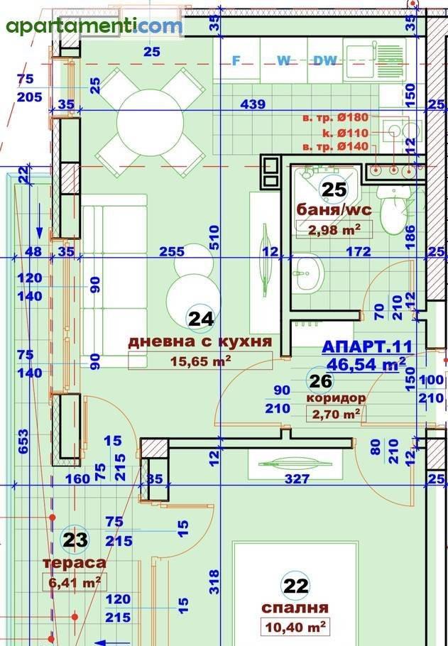 Двустаен апартамент Бургас Сарафово 7