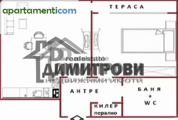 Двустаен апартамент Варна Чайка 2
