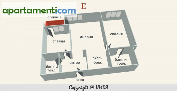 Тристаен апартамент, София, Сердика 1