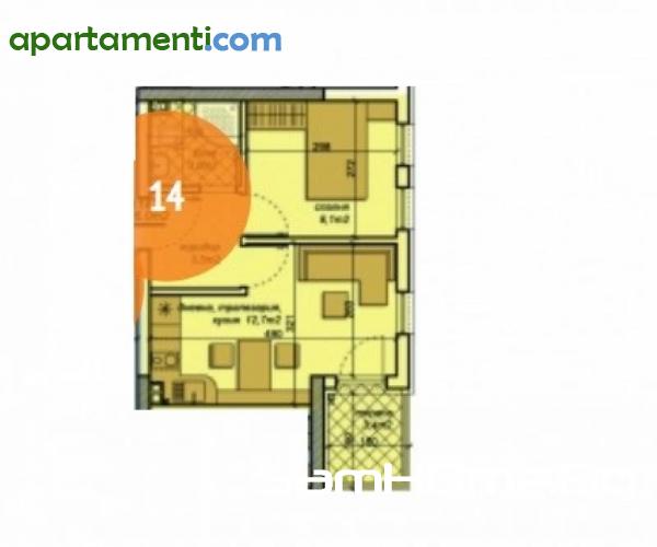 Двустаен апартамент Варна Чайка 7