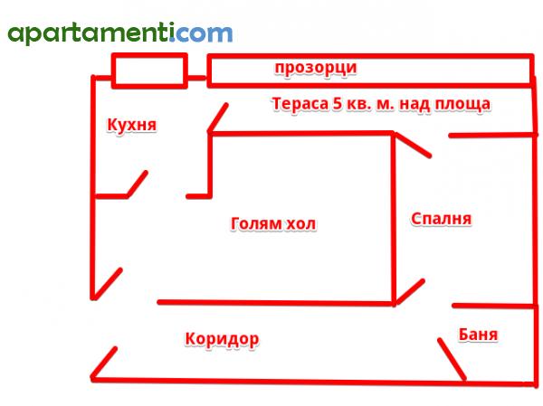 Двустаен апартамент, Бургас, Лазур 11