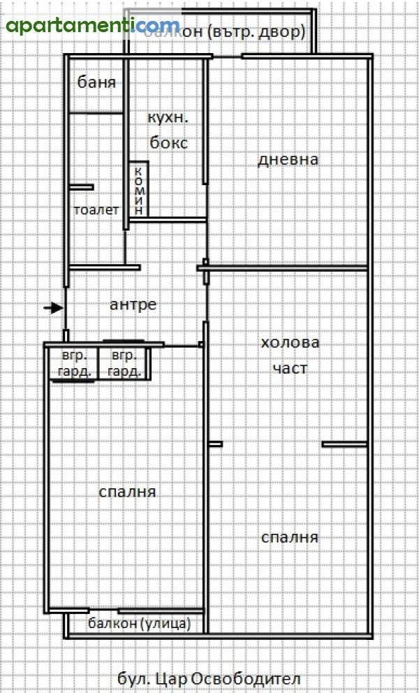 Тристаен апартамент, Варна, Червен Площад 2