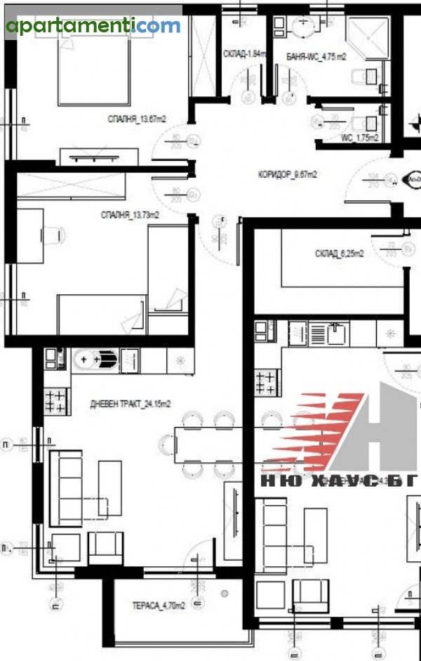 Тристаен апартамент, Варна, Възраждане 3 1